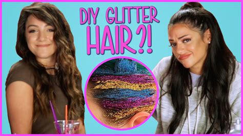 diy hairstyles niki and gabi diy glitter hair niki and gabi diy or di don t youtube