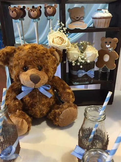 teddy bear baby shower party ideas cakes chang e 3 and bear baby showers