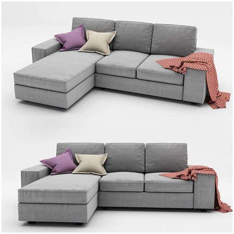 futon gebraucht kivik 3 ikea sofa 3d model