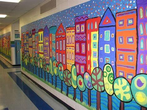 school wall murals school mural classroom ideas