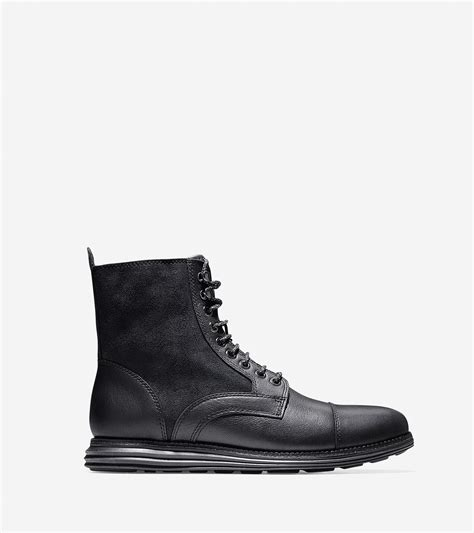cole haan s boots lyst cole haan lunargrand leather and suede boots in