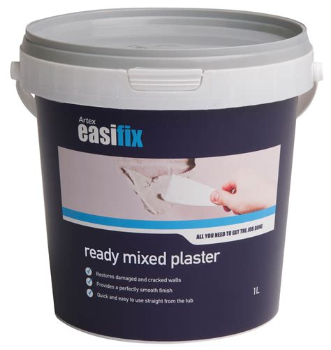 plaster b q artex easifix ready mixed plaster 1l departments diy