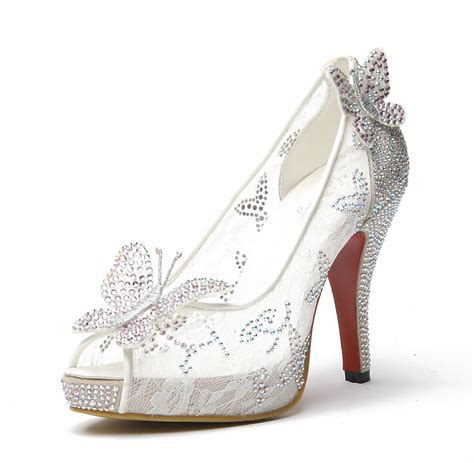 glass slipper high heels limited cinderella glass slipper sandals wedding