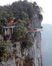 china s newest tourist attraction a glass bottomed