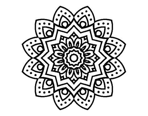 imagenes flor mandala dibujo de mandala flor natural para colorear dibujos net