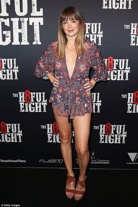 emma lung wows  boho playsuit   hateful  premiere  sydney daily mail