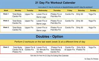 21 day fix workout days to fitness