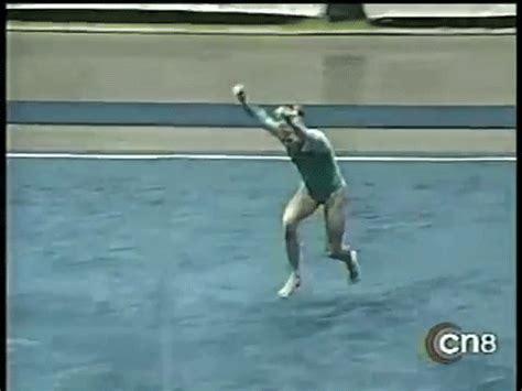 gymnastics layout half what a diverse tumbler us jana bieger was wogymnastika