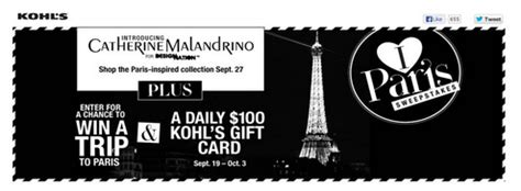 What Gift Cards Does Kohls Sell - catherine malandrino for kohl s sweepstakes win 100 kohl s gift card mommies with