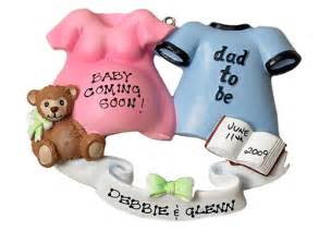 personalized christmas ornament expecting or pregnant parents