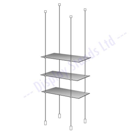 suspended acrylic cable shelving system