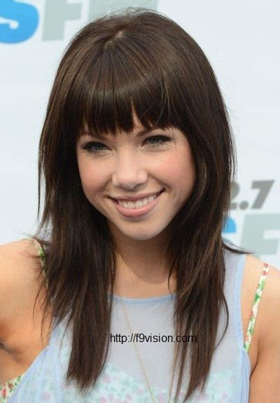 hairstyles lond front back with bangs cute easy long hairstyle in front bangs
