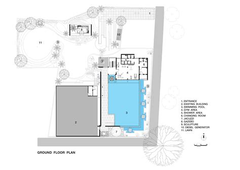 studio pool house floor plans viewing gallery 2 bedroom gallery of pool house abin design studio 21