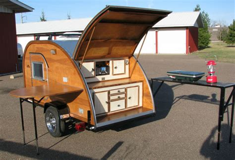 Tiny Homes Plans Teardrop Trailers Offer Space Saving Comfort