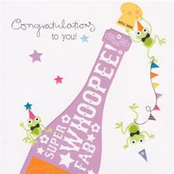 congratulations card chagne bottle cherry on top cardspark