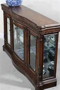 Console Curio Cabinets Cheap Classica Curio Console W Serpentine Front Mirror Back