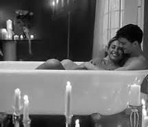 sex bathtub bath black and white couple cute hug love image