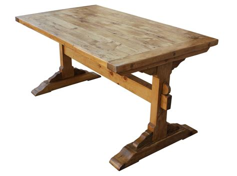How To Build A Trestle Dining Table Trestle Dining Table Decobizz
