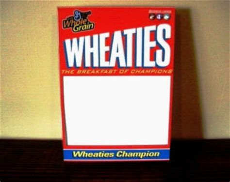 wheaties box template picture frame me