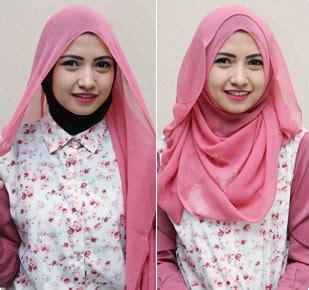tutorial hijab formal  scarf segiempat ala juara