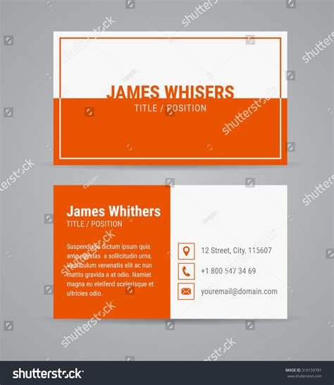 card template sets vector modern clean business card design stock vector