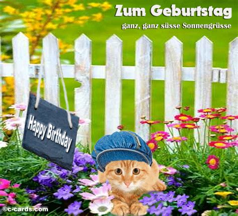 How To Wish Happy Birthday In German Sonnengr 252 Sse Free Geburtstag Ecards Greeting Cards 123