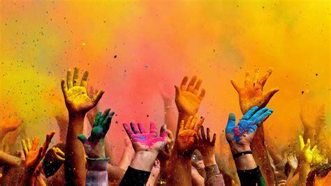 holi festival spring paint hands new hd wallpapers