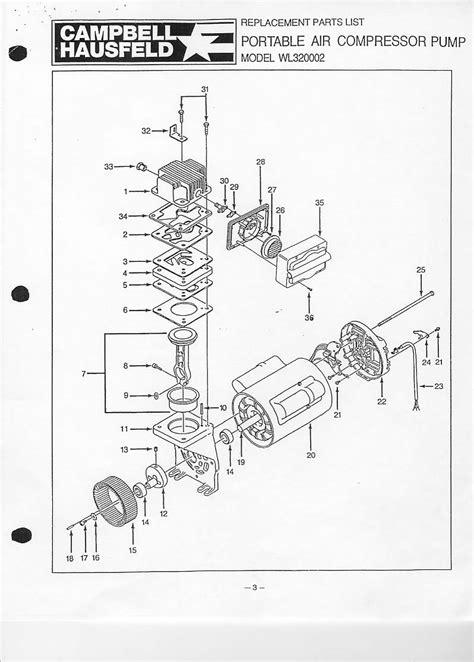 campbell hausfeld wl wlaj pump parts