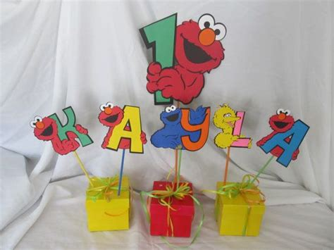 sesame street birthday party centerpiece by