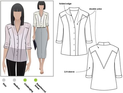 blouse pattern making pdf victoria blouse pdf style arc