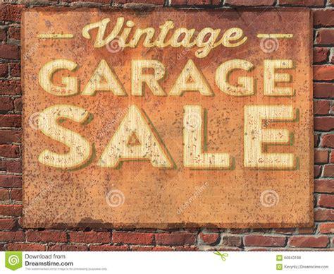 Vintage Garage Sale by Garage Sale Sign Stock Photo Image 60843188
