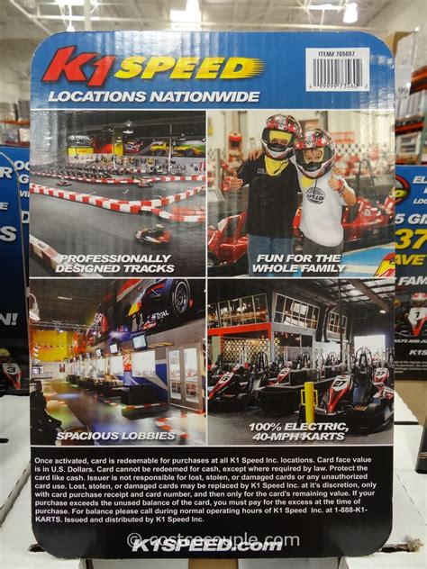 Costco K1 Speed Gift Card - k1 speed discounted gift cards