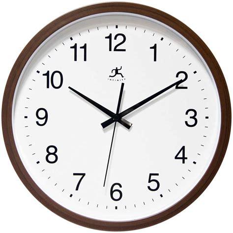 office wall clocks walnut finish wall clock by infinity instruments office