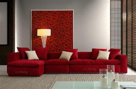 wohnzimmer 2 farben einrichten mit farben rote farbe energie und
