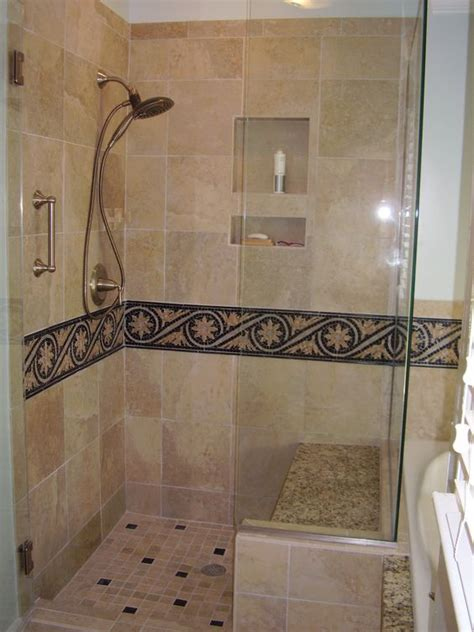 mosaic bathroom border tiles master bathroom shower with 12 quot x12 quot tiles and mosaic