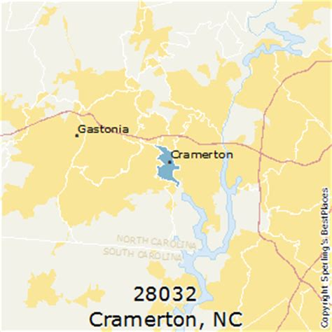 zip code map gastonia nc best places to live in cramerton zip 28032 north carolina