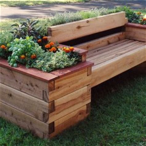 raised garden bed with bench seating outdoor summer decor beautifying your space