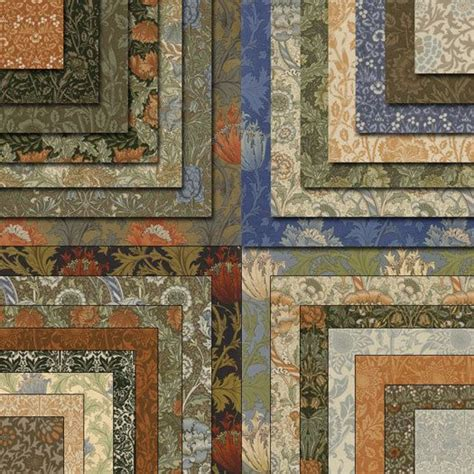 William Morris Patchwork Fabric - william morris last 3 charm packs moda quilt fabric