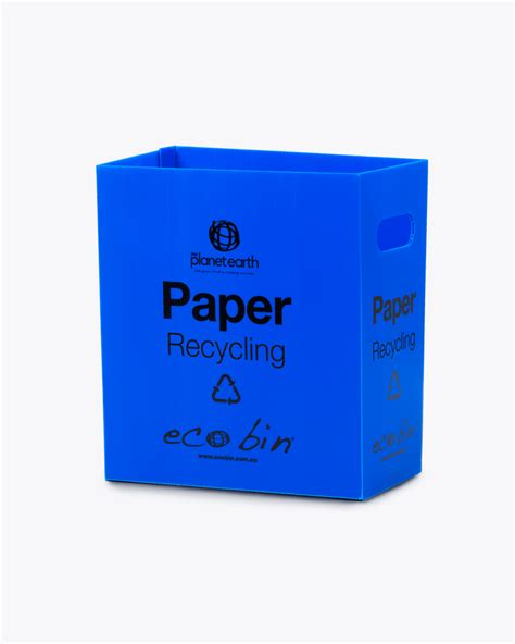 Oh Look Waste Paper Bins In Paper Sizes by Blue Paper And Cardboard Recycling Laminated Educational
