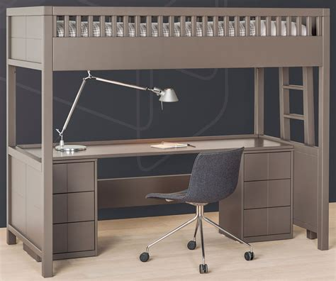 bureau en mezzanine lit mezzanine quarr 233 avec bureau rabattable bureau