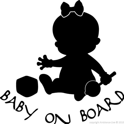 Fairy Wall Stickers wall decal baby on board silhouette girl wall decal
