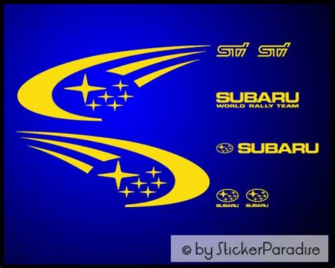 subaru rally logo stickerparadise subaru rally team
