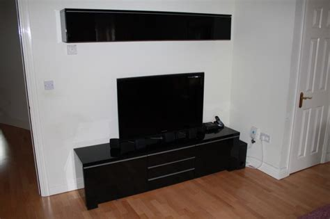 besta burs tv bench besta burs tv bench wall shelf high gloss black for sale in celbridge