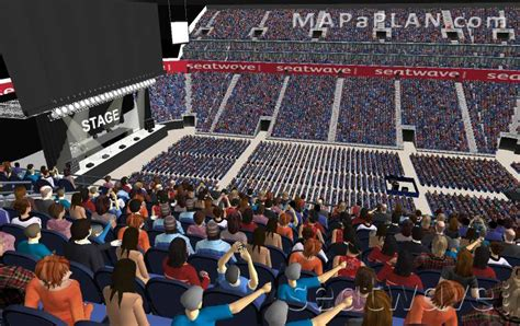 O2 Section Bk by O2 Arena Seating Plan Detailed Seat Numbers