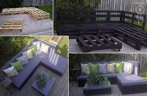 pallet furniture patio how to make pallet patio furniture diy crafts handimania