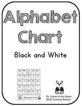 Alphabet Chart---Black and White | Alphabet charts