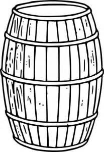 Whiskey Barrel Clipart  Kid sketch template