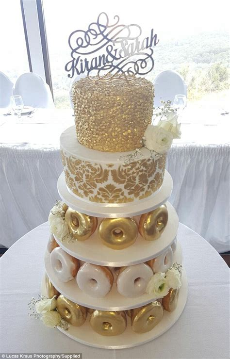 Wedding Bouquet Made Of Donuts by Wed At The Krispy Kreme Doughnut Cafe Where They