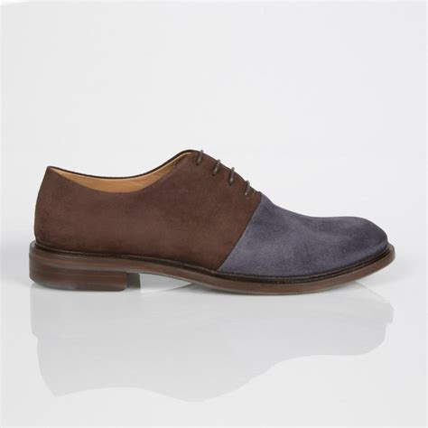 brown suede oxford shoes paul smith grey and brown suede isaac oxford shoes with