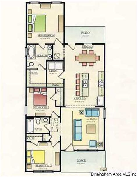 Very Open Floor Plans by Very Open Floorplan Features A Huge Kitchen Island Large